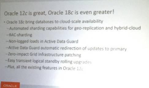 Oracle Database 18c 的10大新特性一览