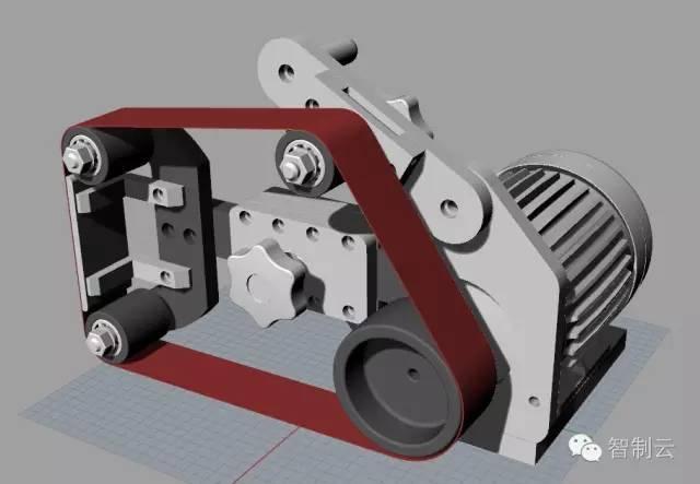 【工程机械】2x36砂带打磨机3d建模图纸 rhino设计 3dm格式