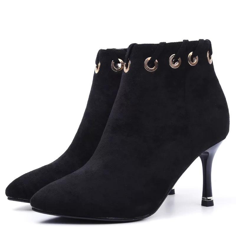磨砂高跟鞋,即帶復古潮流又不失時尚性感大方圖片