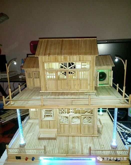 竹签diy手工制作房子