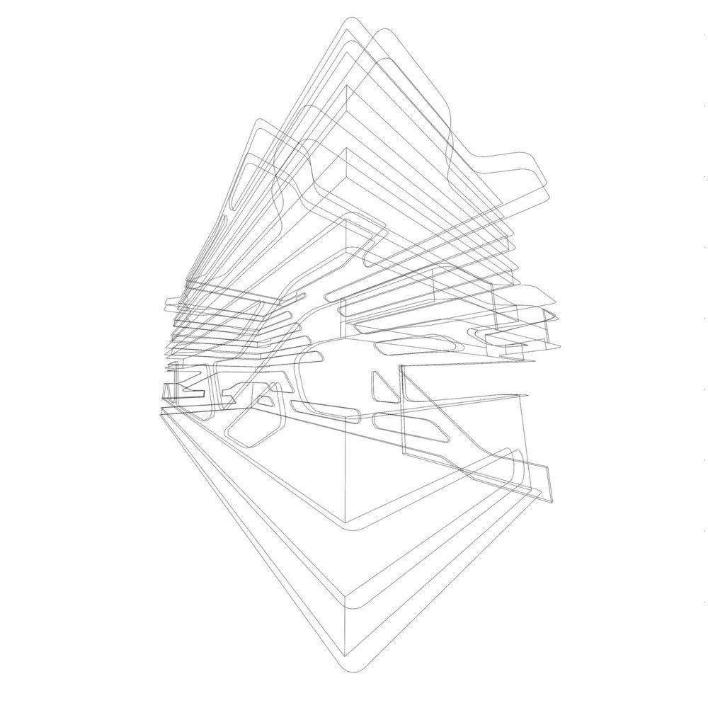 建筑手绘分析图线稿