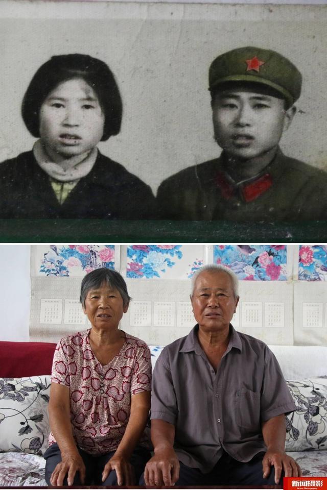 熟肥老夫妻_一对几十年的老夫妻,今昔照片对比