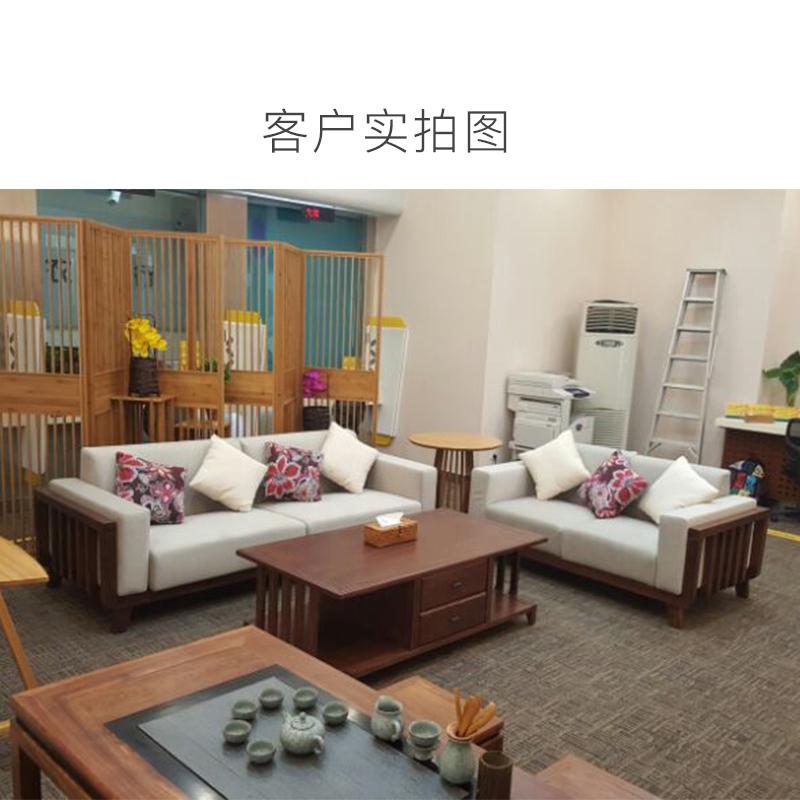 别傻傻再买传统沙发了,今年流行实木沙发,让客厅看起来更豪华图片