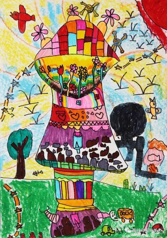缤纷鸟第六届全国少儿美术大赛绘画类幼儿组特等奖获奖作品欣赏(上)图片
