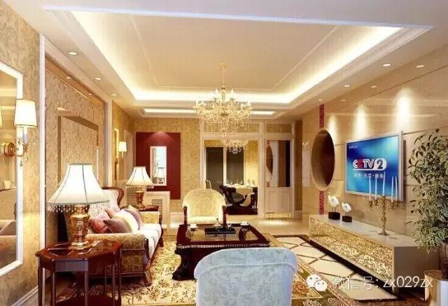 装修沙发,石膏线/pu线的运用1.新房背景墙的插座图片