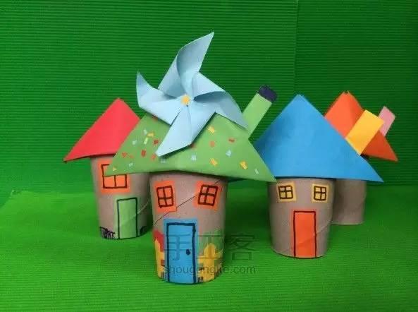 幼儿园手工制作简单的卡通小房子(内含详细教程)