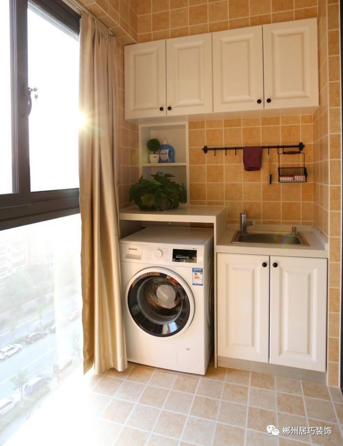 阳台第1图片 阳台洗衣机一体柜,利用结构做了一组这样的收纳,比较图片