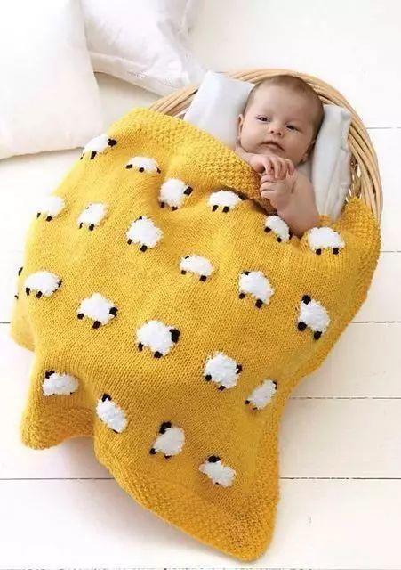 图解 小熊方片图解 下面这种有着立体玩偶的毛毯 宝宝睡着了当毯子 醒