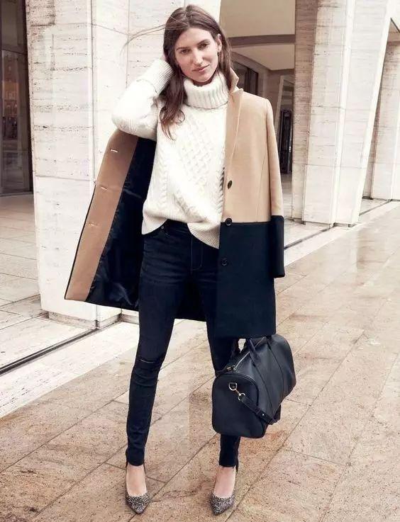 时尚|大毛衣+紧身裤,简约单品穿出不俗气质! 32