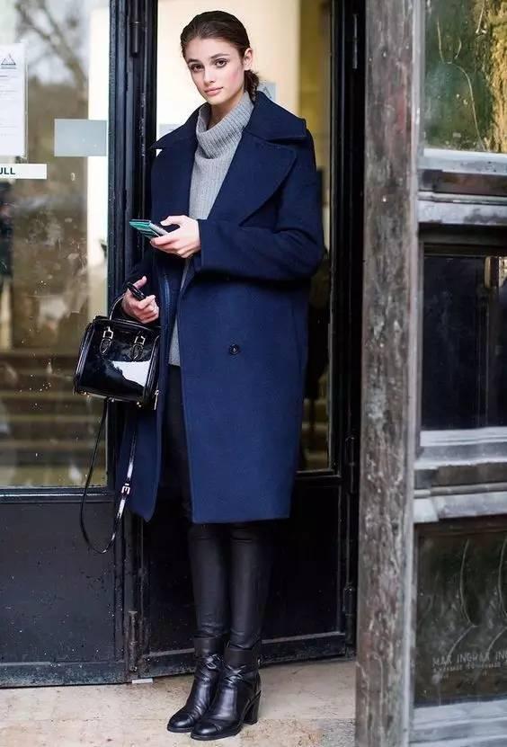 时尚|大毛衣+紧身裤,简约单品穿出不俗气质! 27