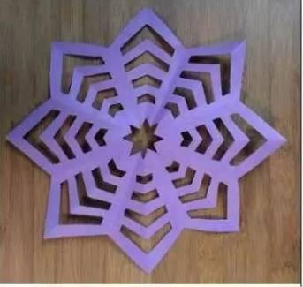 幼儿园亲子手工制作:雪花剪纸,一起享受与baby手工的快乐时光