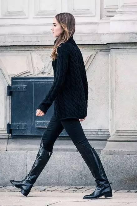 时尚|大毛衣+紧身裤,简约单品穿出不俗气质! 8