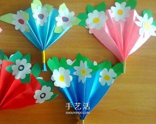 母亲节学着做 手工制作漂亮的纸花束