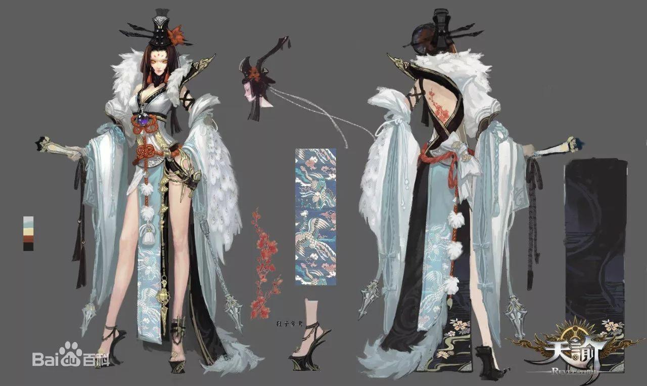 游戏角色设定三视图