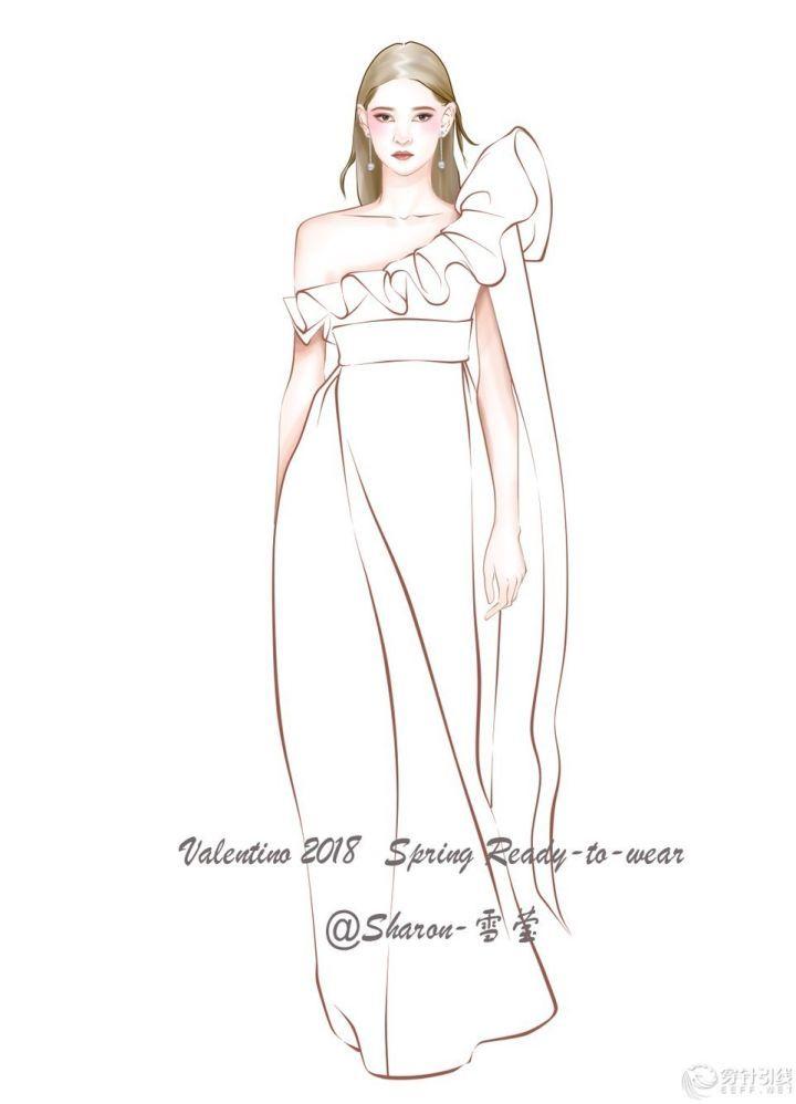 时装手绘 | valentino电脑效果图