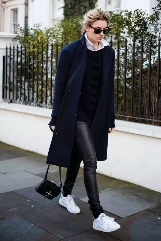 时尚|大毛衣+紧身裤,简约单品穿出不俗气质! 28
