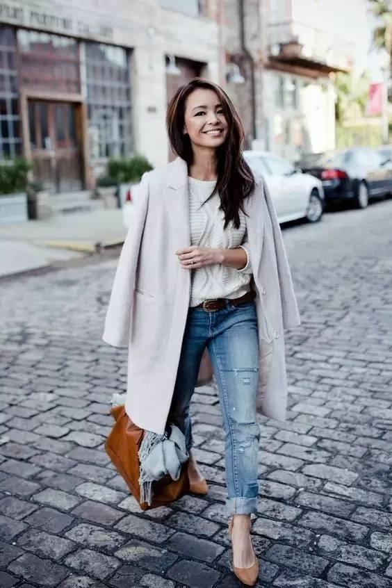 时尚|大毛衣+紧身裤,简约单品穿出不俗气质! 26