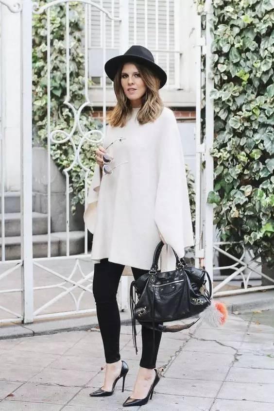 时尚|大毛衣+紧身裤,简约单品穿出不俗气质! 6