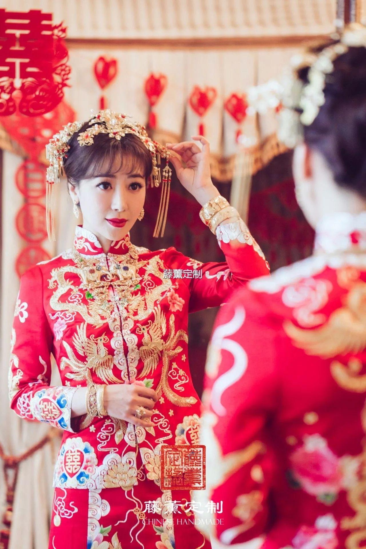 中式嫁衣种草 刘诗诗 陈妍希那些美翻了的中式嫁衣都是什么样子的