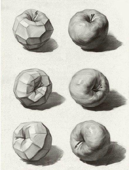 素描教程 | 素描基本练习——苹果
