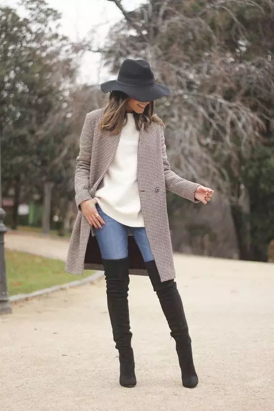时尚|大毛衣+紧身裤,简约单品穿出不俗气质! 21