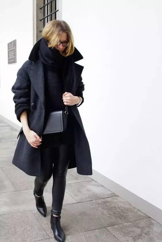 时尚|大毛衣+紧身裤,简约单品穿出不俗气质! 30