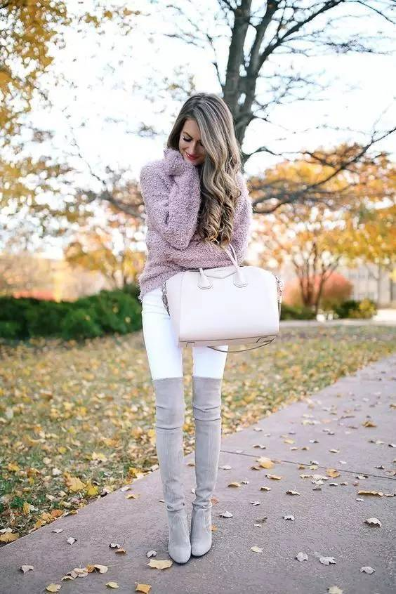 时尚|大毛衣+紧身裤,简约单品穿出不俗气质! 15