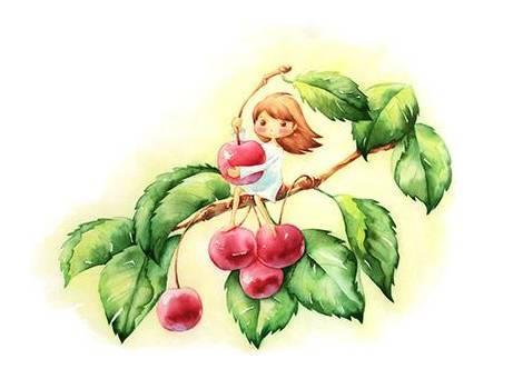 可爱平面图形花