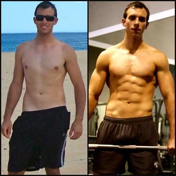 肌肉_女人为什么喜欢有肌肉的男人?看看健身对比照你就知道!