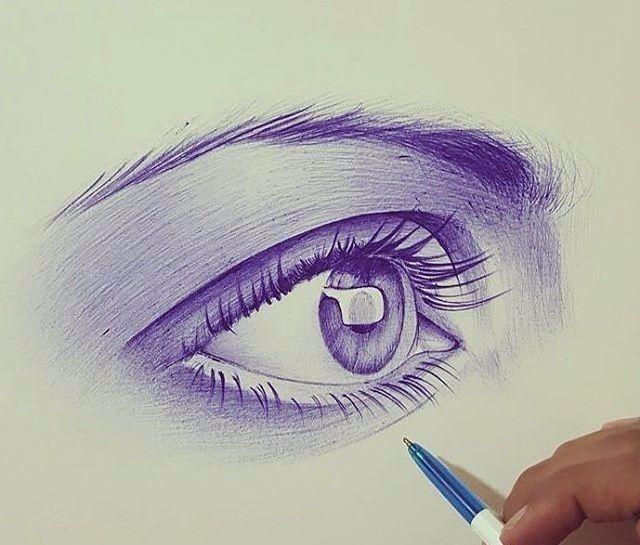 【素描】圆珠笔竟画出油画的效果,也是很厉害的!