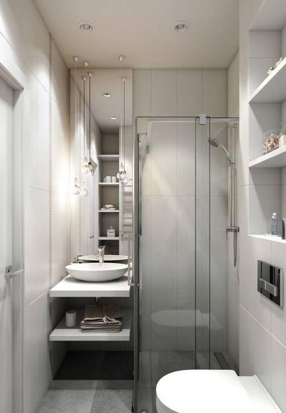 小户型卫生间装修,洗手台和坐便器怎么安放才合理?