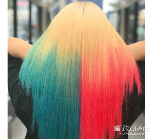 今年流行深色发根的二次元渐变发,再也不怕头发长出来图片