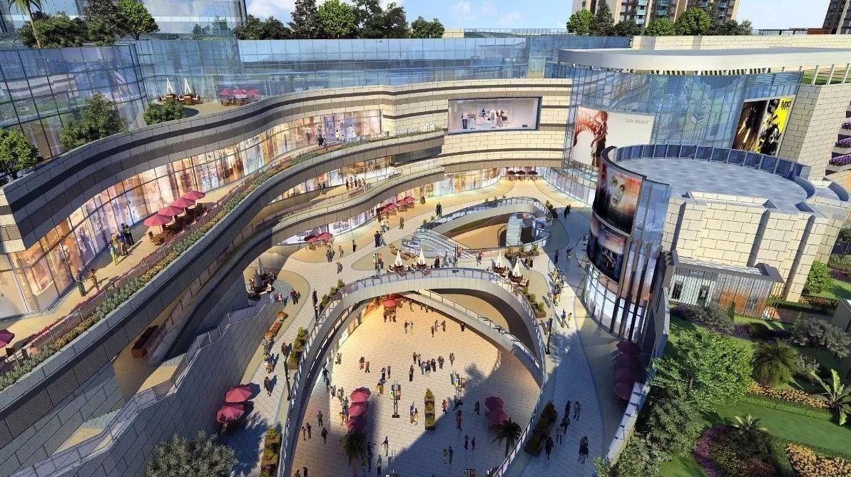 45米挑空的中庭,三大艺术主题下沉式广场,lifestyle公园版顶层商业图片