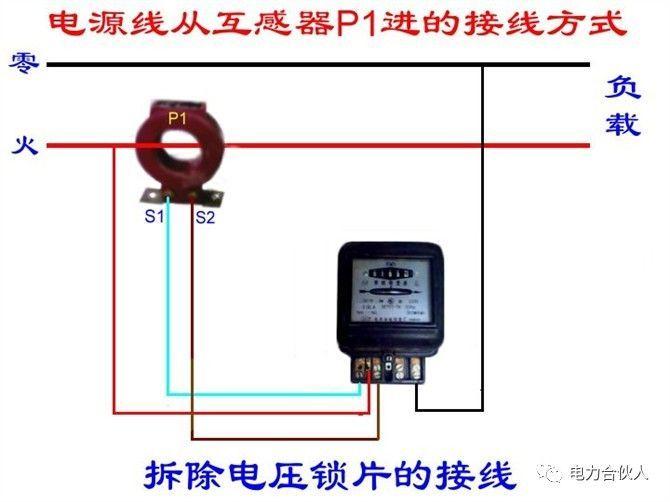 三相四线电度表互感器接线方式(电源从p2进) 有功电表,无功电表接线