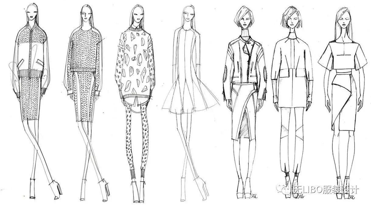 毕业设计系列  200张最新【服装线稿】(美丽的效果图图片