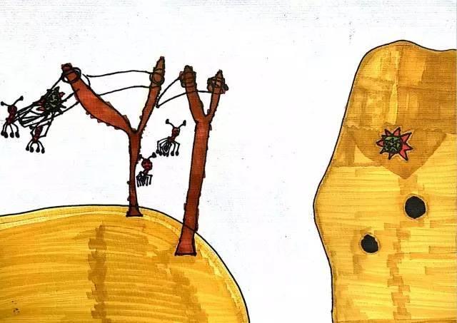 种儿童冰彩画、水粉画所需工具】-儿童画构图技巧,涂色方法,画面
