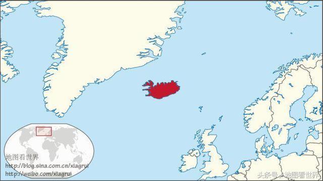 冰岛地理位置图