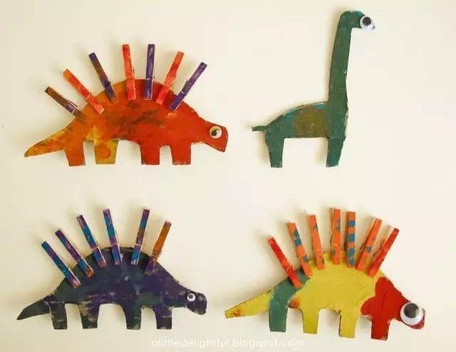 手工| 废弃物制作:简单的手工小恐龙