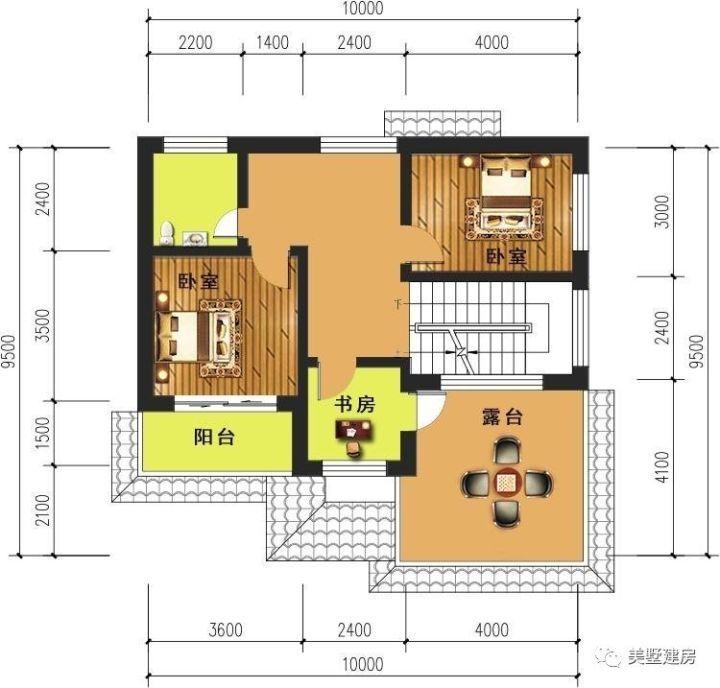 建筑层数:2层 一层平面图:客厅,厨房,餐厅,卧室,卫生间 二层平面图:2