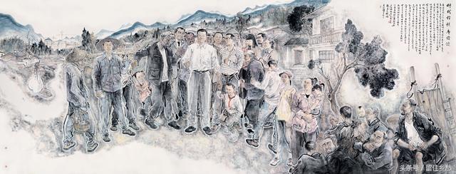 《全国优秀县委书记—廖俊波》张永海赵胜利文亚坤300cm×800cm中国画