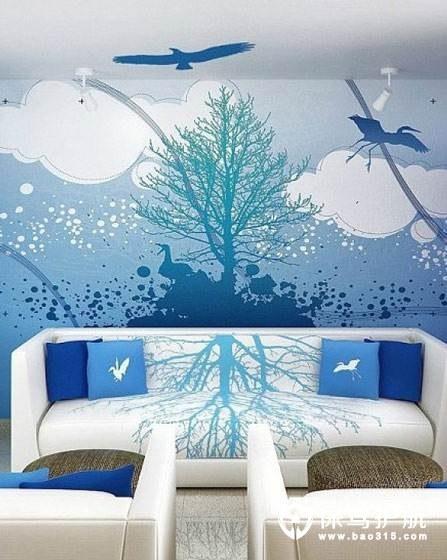 个性家居手绘墙如何搭配