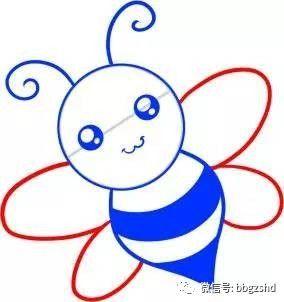 【简笔画教程】五步画出勤劳的小蜜蜂图片
