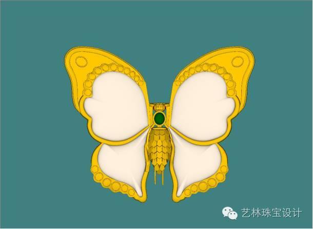 蝴蝶胸针jewel cad图示范教学图片