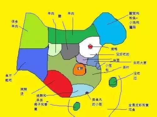 """吃货眼中的""""中国美食地图"""",拿走不谢!"""