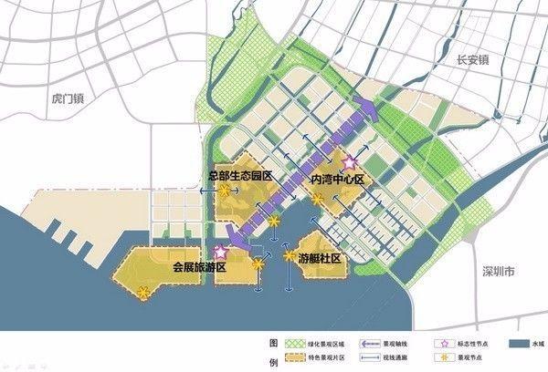 长安新区规划很像深圳的宝安中心区,加上紧邻深圳机场北cbd,发展前景图片