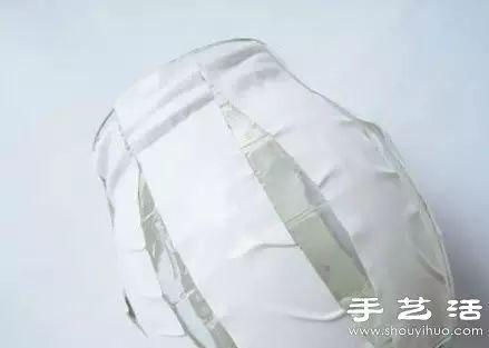 玻璃瓶 牛皮纸 废物利用diy小清新花瓶图片