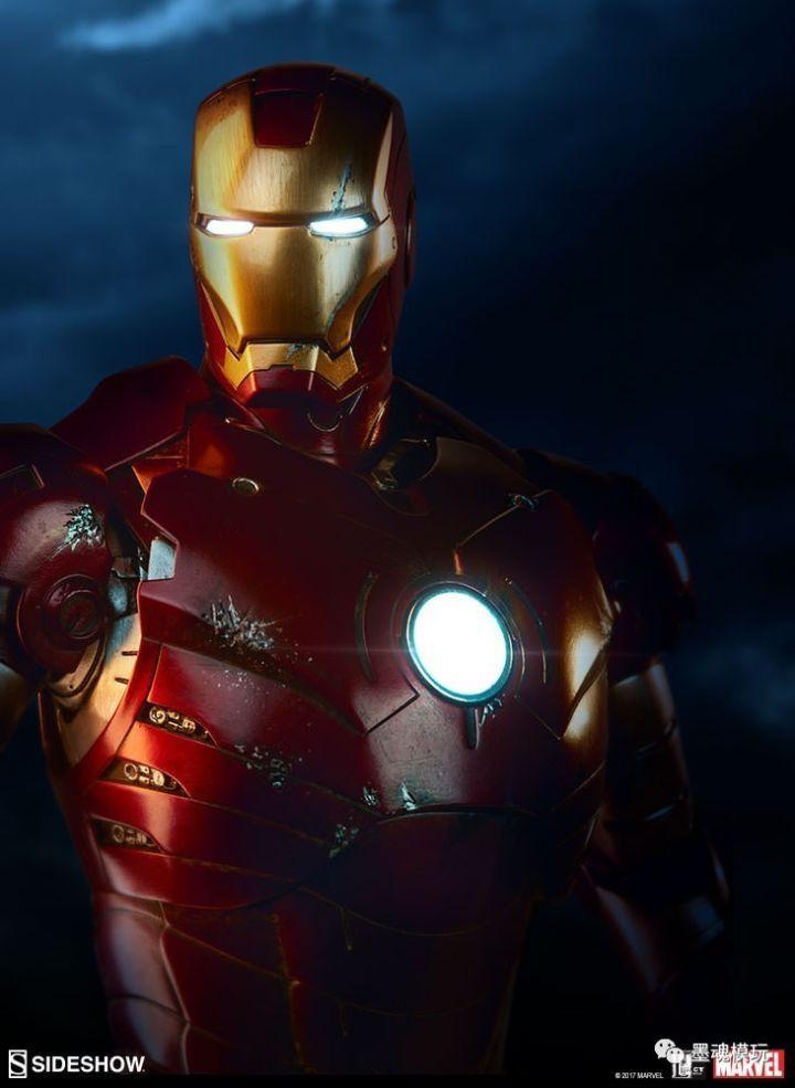 iron man 3游戏_Sideshow 22.5寸 Iron Man/钢铁侠 Mark III 马克3 MK3
