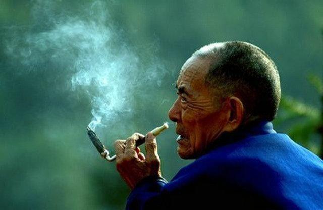 秋天麻绳长a麻绳了步骤再小心的割下每一张烟叶然后用粽子把老人编好怎么包烟叶具体烟叶图片