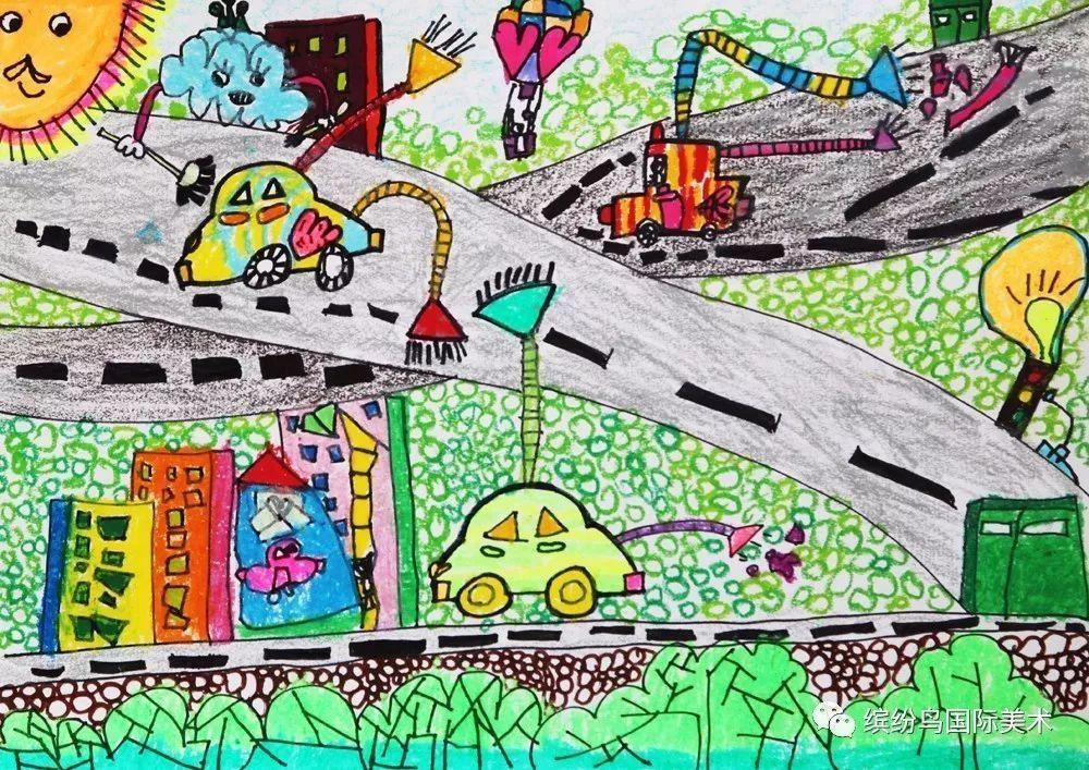 缤纷鸟第六届全国少儿美术大赛绘画类幼儿组一等奖获奖作品欣赏(2)图片