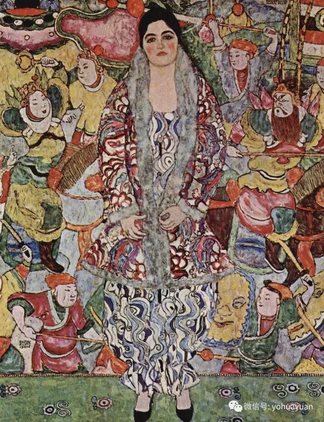 克林姆特亚当和夏娃_克林姆特  黄金画家的情色一生和艺术